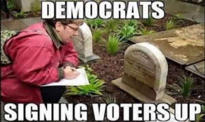 VF Signing up voters 300x179?x16016 news with views president trump targets voter fraud, democrats go