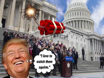 Trump Threw a Stick of Dynamite into the Establishment